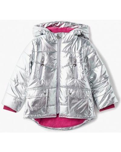Куртка теплая серебряного цвета Incity
