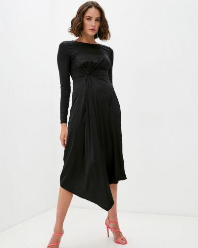 Вечернее черное вечернее платье Patrizia Pepe