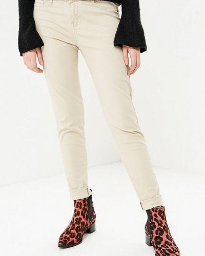 Бежевые брюки зауженные Gaudi