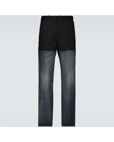 Bawełna czarny jeansy na wysokości wysoki wzrost z mankietami Balenciaga