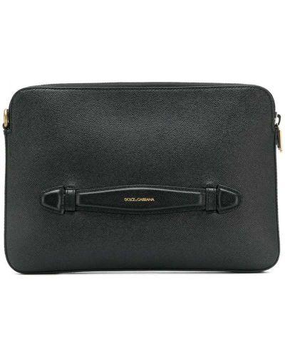 Кожаная сумка для ноутбука на руку Dolce & Gabbana