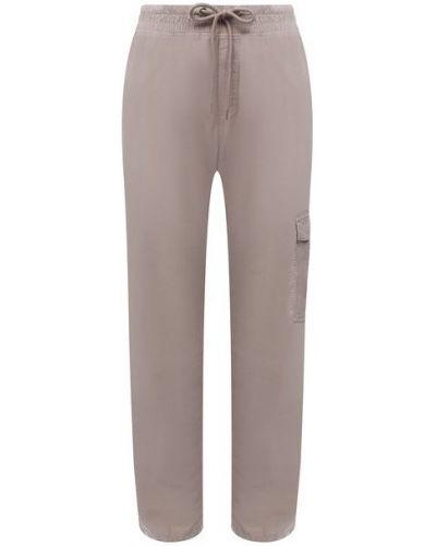 Хлопковые серые брюки James Perse