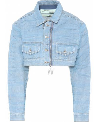 Джинсовая куртка укороченная синий Off-white