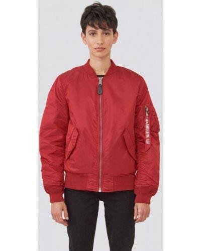 Утепленная куртка - красная Alpha Industries