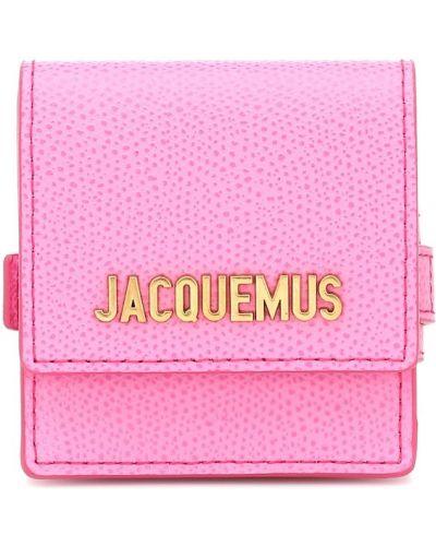 Skórzany portfel różowy Jacquemus