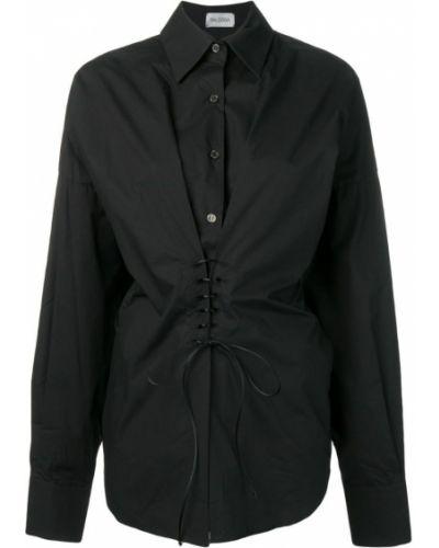Классическая черная классическая рубашка на пуговицах Balossa White Shirt
