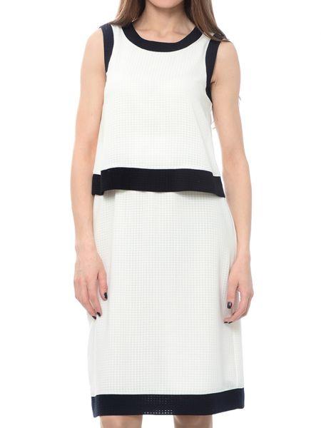 Платье из полиэстера - бежевое Armani Jeans