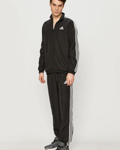 Czarny dres materiałowy Adidas
