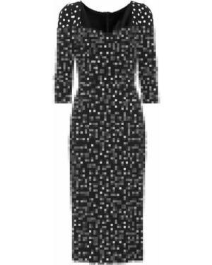 Платье миди в горошек приталенное Dolce & Gabbana