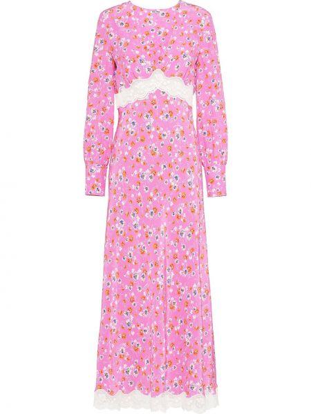 Sukienka midi z długim rękawem chudy Miu Miu