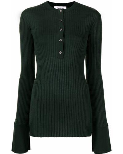 Koszulka prążkowana - zielona Enfold