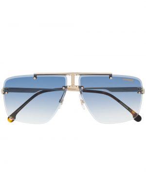 Золотистые желтые солнцезащитные очки Carrera