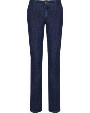 Синие укороченные джинсы с карманами на пуговицах в стиле бохо Gender Denim