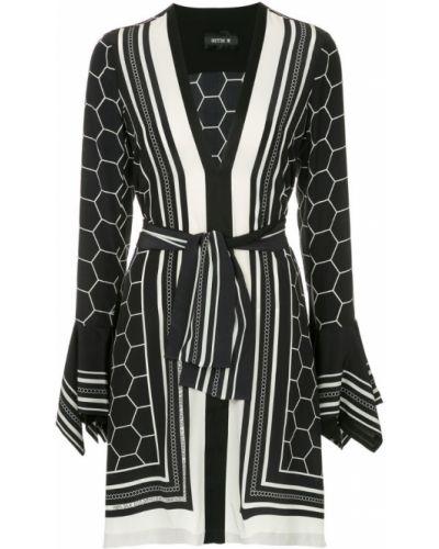 Платье с поясом с V-образным вырезом с длинными рукавами Kitx