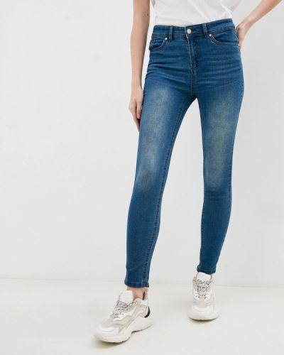 Синие джинсы-скинни узкого кроя Code