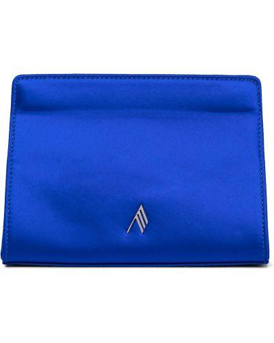 Satynowa niebieska kopertówka The Attico