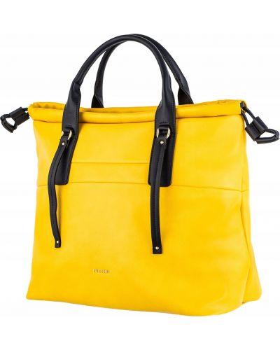 Żółta torebka skórzana miejska Puccini