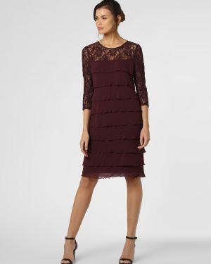 Ażurowa czerwona sukienka Ambiance