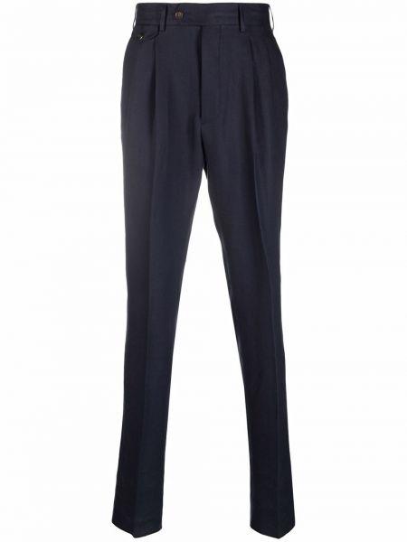 Niebieskie lniane lniane spodnie Lardini