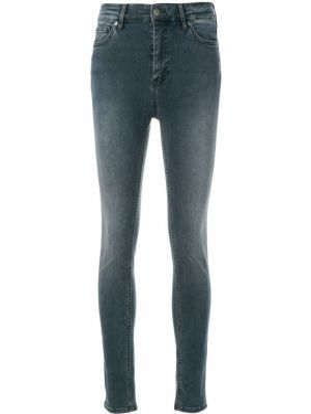 Пляжные джинсы с высокой посадкой с карманами с пайетками скинни Mih Jeans
