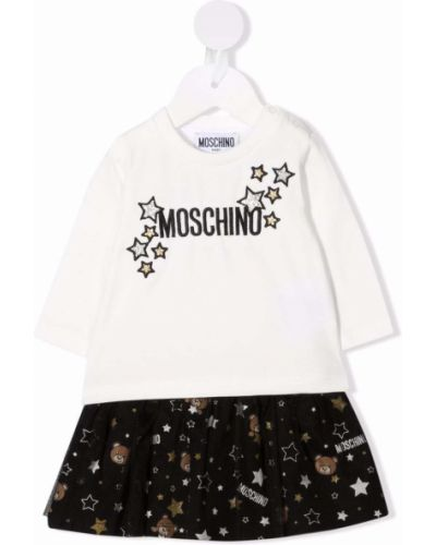 Długa spódnica tiulowa - biała Moschino Kids