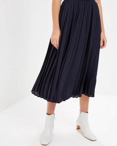 Плиссированная юбка синяя оливковый S.oliver