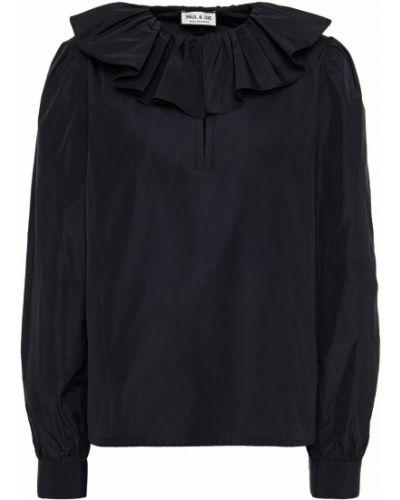 Черная блузка на пуговицах с манжетами Paul & Joe