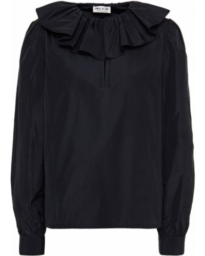 Блузка на пуговицах - черная Paul & Joe