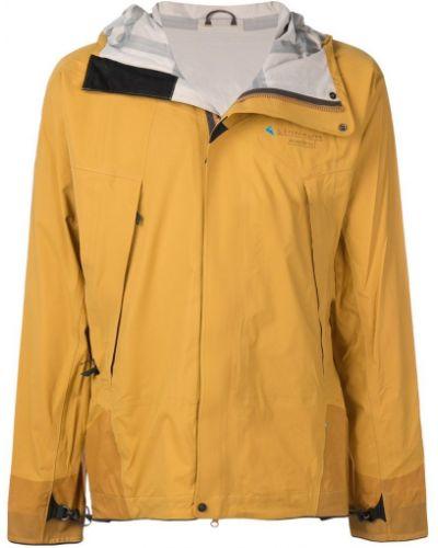 Куртка с капюшоном - желтая Klättermusen