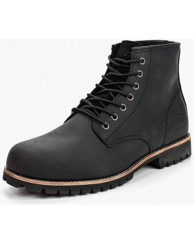 Кожаные ботинки осенние высокие Affex