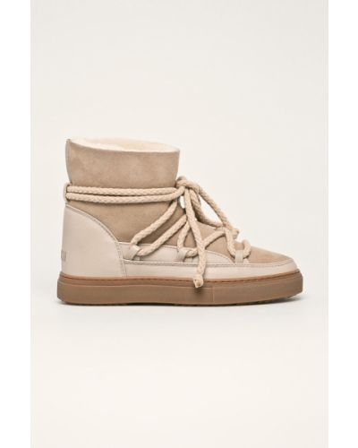 Ботинки на каблуке на шнуровке зимние Inuikii