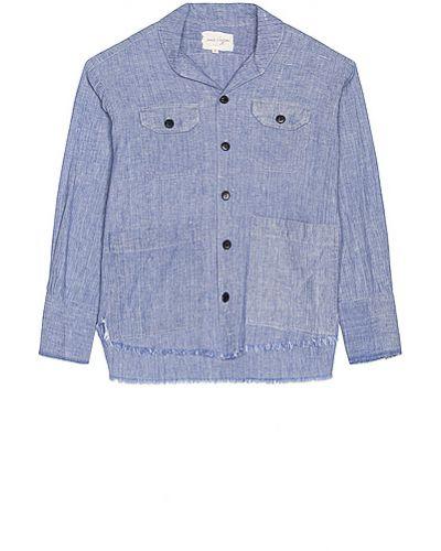 Niebieska koszula bawełniana Greg Lauren