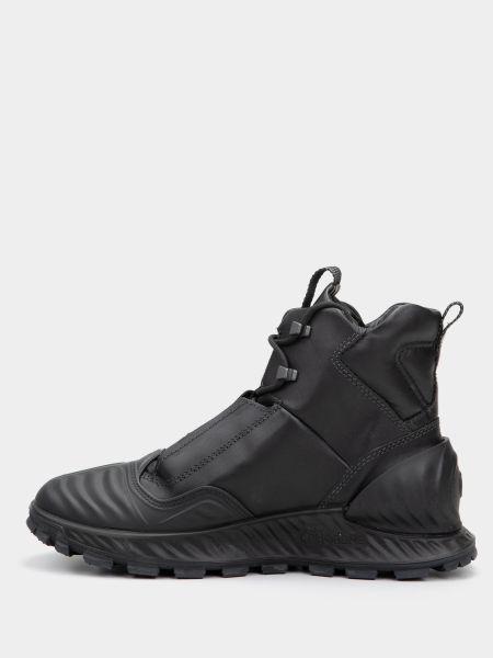 Кожаные черные ботинки на шнуровке Ecco