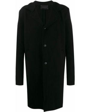 Черное шерстяное пальто на молнии 10sei0otto