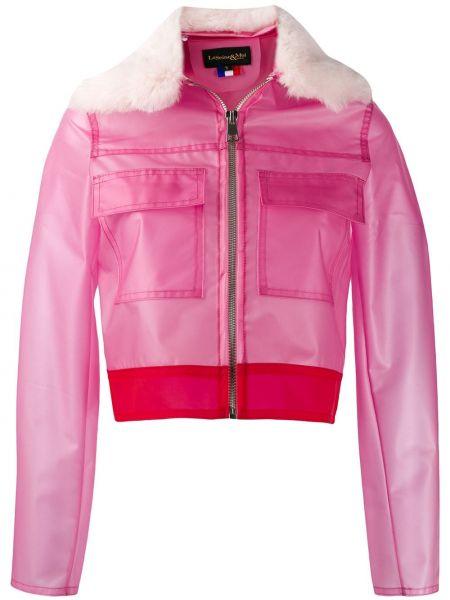 Розовая куртка на пуговицах из искусственного меха с воротником La Seine & Moi