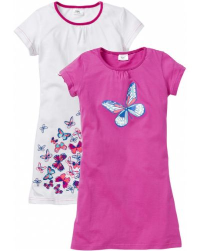 Пижама белая розовый Bonprix