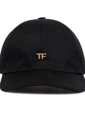 Czarny kapelusz skórzany Tom Ford