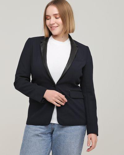 Кожаный пиджак - синий Rozetka