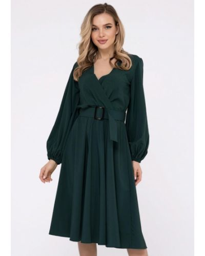 Зеленое платье с запахом Magnet