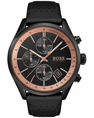 Czarny złoty zegarek kwarcowy casual Hugo Boss