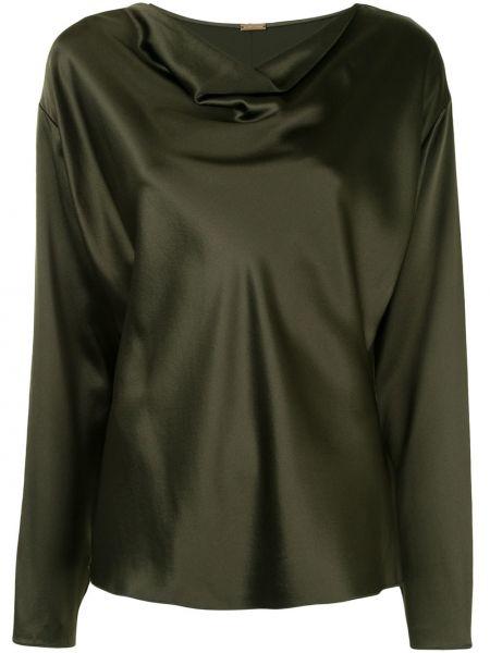 Шелковая блузка - зеленая Adam Lippes