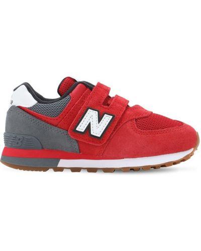 Zamsz sneakersy siatkowaty na hakach z siatką New Balance