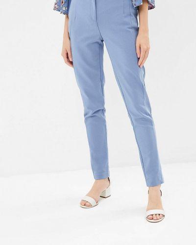 Голубые брюки с завышенной талией Zarina