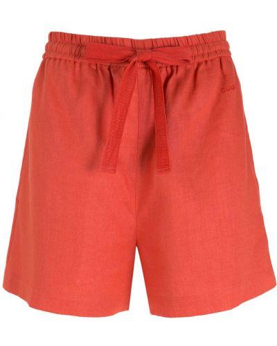 Свободные красные шорты с карманами Nk