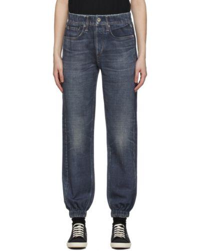Синие джинсы с карманами с манжетами Rag & Bone