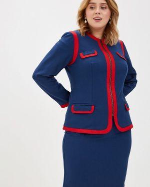 Юбочный костюм синий Bezko