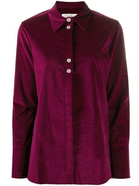 Różowa koszula z długimi rękawami zapinane na guziki Victoria Victoria Beckham