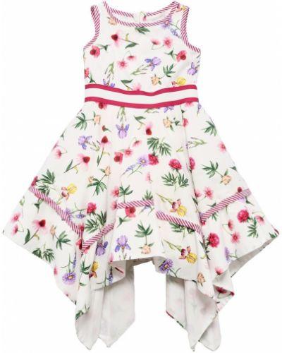 Платье на молнии - белое Monnalisa