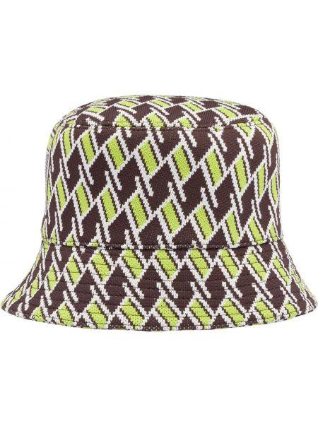 Brązowy kapelusz Prada
