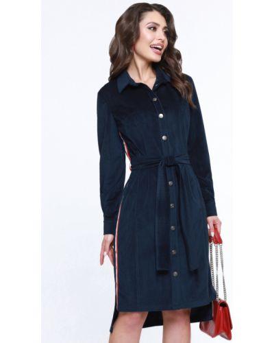 С рукавами модное спортивное платье с поясом Dstrend